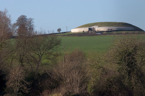 Newgrange…. On its Hill. Built before Stonehenge or the Pyramids. Near the river Boyne.